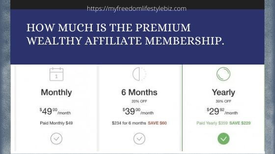 Pricing Wealthy Affiliate Membership