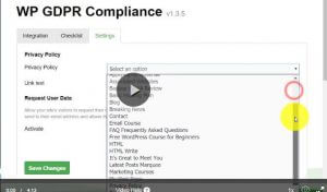 GDPR Plugin how to set it up
