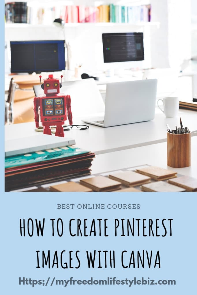 How to create a Pinterest images with canva