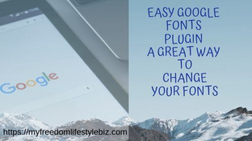 Change the font on your website with google fonts