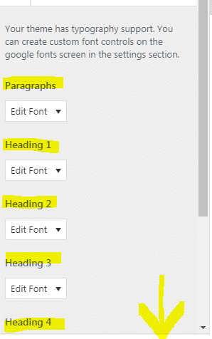 Google fonts plugin paragraph to headlines