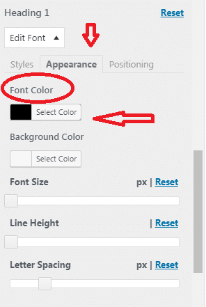 Change the Font colour on your WP Site