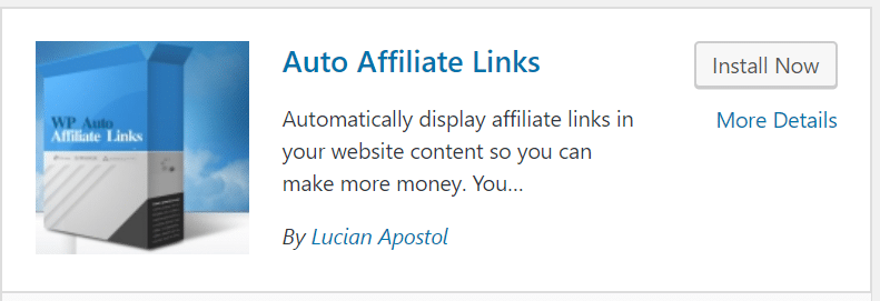 Auto Affiliate Link Plugin