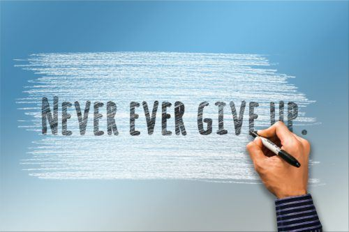 Never Give up as a online marketer