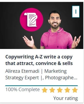 Udemy Copy writing course