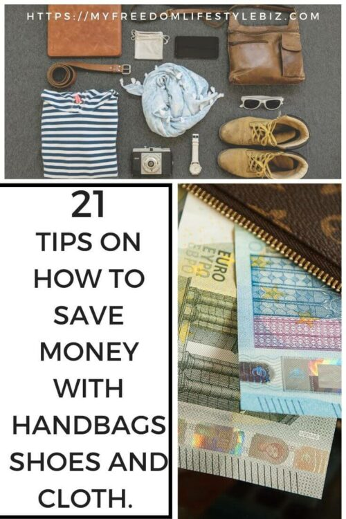 how to save money with handbags, shoes and clothing