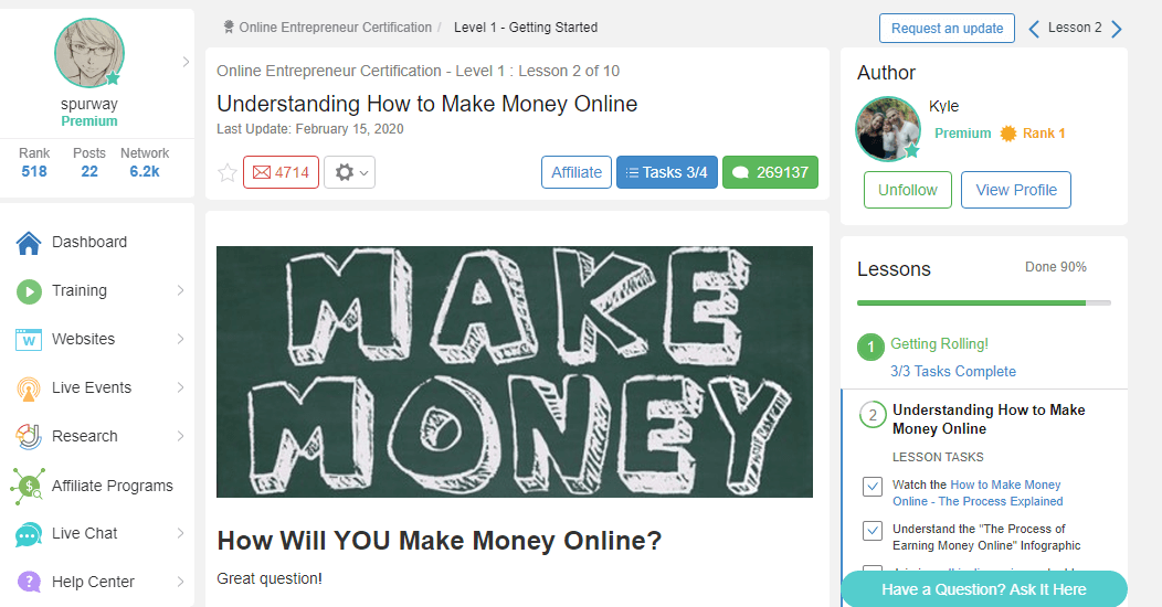wealthy Affiliate make money online
