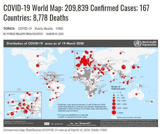 Covid World Map. WHO